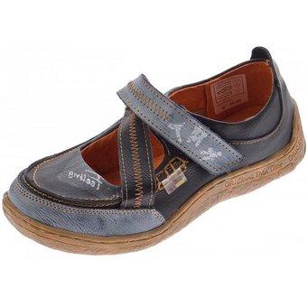 TMA Zehentrenner Echtleder Komfort Schuhe mit Aufdruck