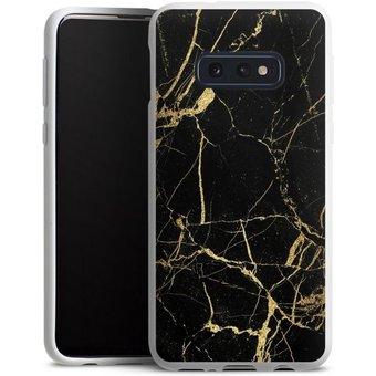 DeinDesign Handyhülle BlackGoldMarble Look Samsung Galaxy S10e, Hülle Gold Kupfer Marmor Muster