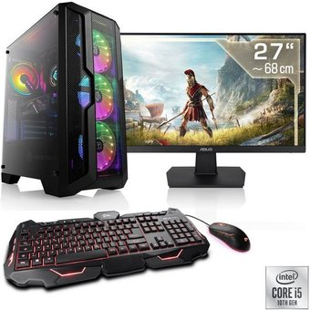 CSL HydroX T5788 Wasserkühlung PC-Komplettsystem 27 Zoll, Intel Core i5, RTX 2060 SUPER, 16 GB RAM, 480 GB SSD