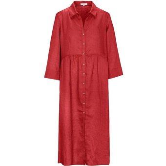IN LINEA Langes Hemdblusenkleid
