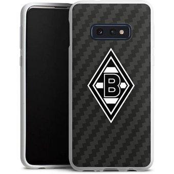 DeinDesign Handyhülle Borussia Raute Carbon Samsung Galaxy S10e, Hülle Gladbach Borussia Mönchengladbach Carbon