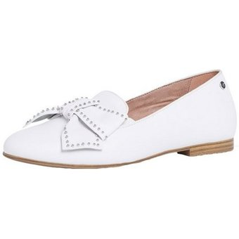 Tamaris 1-24229-24 113 White Leather Studs Sneaker Ballerinas