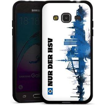 DeinDesign Handyhülle Silhouette Nur der HSV Samsung Galaxy J3 2016 , Hülle Offizielles Lizenzprodukt HSV Hamburger SV