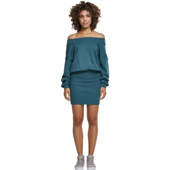 URBAN CLASSICS Sweatkleid Kleid Ladies Sweat Off Shoulder Dress -2336 auch in grossen Grössen