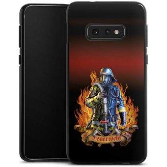 DeinDesign Handyhülle Firefighter Samsung Galaxy S10e, Hülle Feuerwehrmann Feuerwehr Beruf