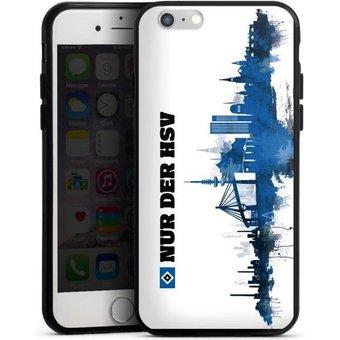 DeinDesign Handyhülle Silhouette Nur der HSV Apple iPhone 6, Hülle Offizielles Lizenzprodukt HSV Hamburger SV