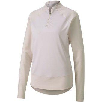 PUMA Stehkragenpullover Mesh 1 4 Zip Damen Golf Pullover