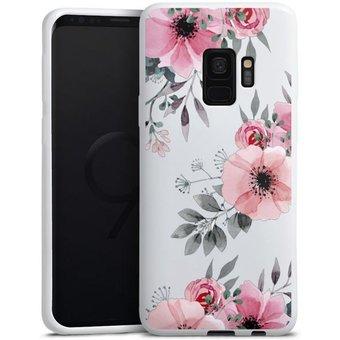DeinDesign Handyhülle Blumen rosa ohne Hintergrund Samsung Galaxy S9, Hülle Blume transparent Blumen
