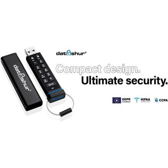 iStorage datAshur USB-Stick USB 2.0, Lesegeschwindigkeit 27 MB s