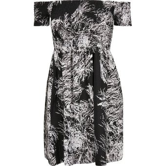 URBAN CLASSICS Sweatkleid Kleid Ladies Smoked Off Shoulder Dress -2605 auch in grossen Grössen