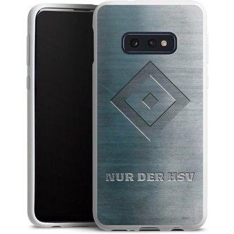 DeinDesign Handyhülle Nur der HSV Metalllook Samsung Galaxy S10e, Hülle HSV Hamburger SV Metallic Look
