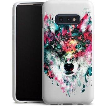 DeinDesign Handyhülle Wolve ohne Hintergrund Samsung Galaxy S10e, Hülle Riza Peker Wolf bunt