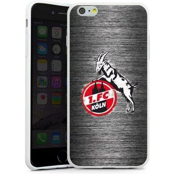 DeinDesign Handyhülle Metal Scratch 1.FC Apple iPhone 6 Plus, Hülle Fussball Metallic Look Offizielles Lizenzprodukt