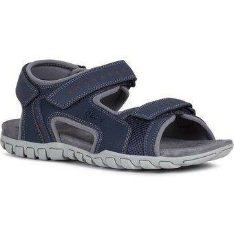 Geox U Sandal Mito Sandale mit komfortablem Softfussbett aus Leder