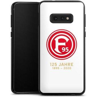 DeinDesign Handyhülle 125 Jahre Fortuna Weiss Samsung Galaxy S10e, Hülle Bundesliga Fortuna Düsseldorf Fussball
