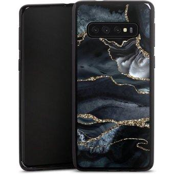 DeinDesign Handyhülle Dark marble gold Glitter look Samsung Galaxy S10, Hülle Glitter Glitzer Look Gold