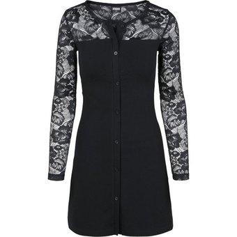 URBAN CLASSICS Sweatkleid Kleid Ladies Lace Block Dress -3218