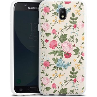 DeinDesign Handyhülle Vintage Beauty Samsung Galaxy J7 2017 , Hülle Vintage Ornamente Blume