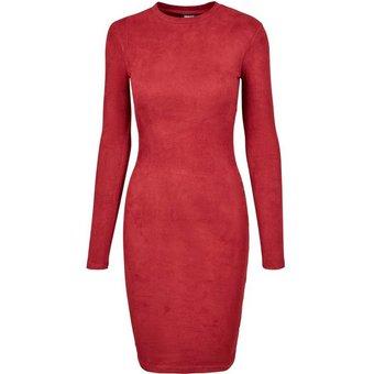 URBAN CLASSICS Sweatkleid Ladies Peached Rib Dress langarm -2996