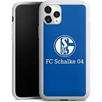 DeinDesign Handyhülle FC Schalke 04 Blau Apple iPhone 11 Pro, Hülle FC Schalke 04 Offizielles Lizenzprodukt S04