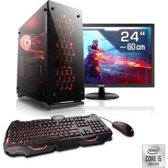 CSL Speed T5118 Windows 10 Home PC-Komplettsystem 24 Zoll, Intel Core i5, GTX 1650, 16 GB RAM, 500 GB SSD
