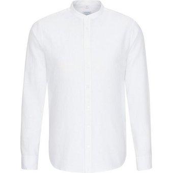 seidensticker Businesshemd Slim Slim Langarm Stehkragen Uni