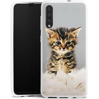 DeinDesign Handyhülle Kitty Samsung Galaxy A30s, Hülle Katze Haustier Feder