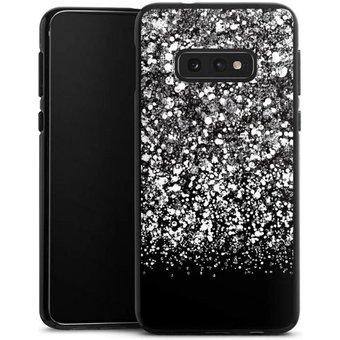 DeinDesign Handyhülle Snow Fall Glitter Look Samsung Galaxy S10e, Hülle Glitzer Look Schneeflocken Muster