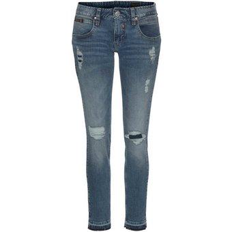 Herrlicher 7 8-Jeans TOUCH CROPPED mit Cut Off Säumen und Destroyed Effekten