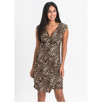 bonprix Abendkleid Kurzarm-Kleid mit Cache-Coeur-Ausschnitt
