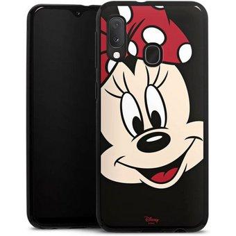 DeinDesign Handyhülle Minnie All Over Samsung Galaxy A20e, Hülle Minnie Mouse Disney Offizielles Lizenzprodukt