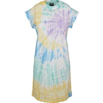 URBAN CLASSICS Sweatkleid Damen Kleid Ladies Tie Dye -3448 auch in grossen Grössen