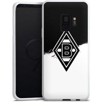DeinDesign Handyhülle Borussia Scratch Schwarz-Weiss Samsung Galaxy S9 Duos, Hülle Borussia Mönchengladbach Gladbach Bundesliga