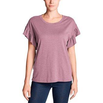 Eddie Bauer T-Shirt Willow mit Kurzarm und Rüschen