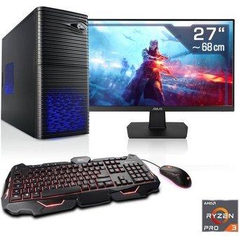CSL Sprint T8117 Windows 10 PC-Komplettsystem 27 Zoll, AMD Ryzen 3, GTX 1650, 16 GB RAM, 500 GB SSD