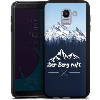 DeinDesign Handyhülle Winterparadies Samsung Galaxy J6 Duos 2018 , Hülle Wanderlust Berg Himmel