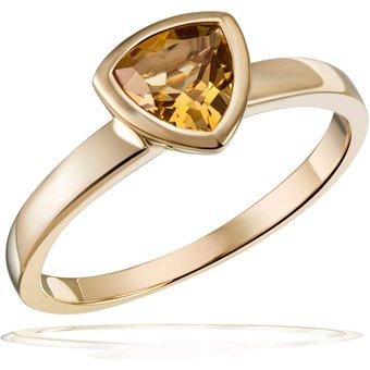 goldmaid Damenring 375 Gelbgold 1 Citrin