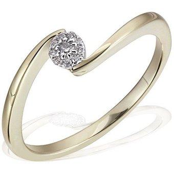 goldmaid Damenring Glamour Verlobung 585 Gelbgold 10 Brillanten 008 ct