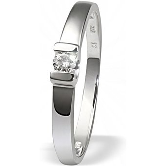 goldmaid Damenring Verlobungsring 585 Weissgold 1 Brillant 008 ct