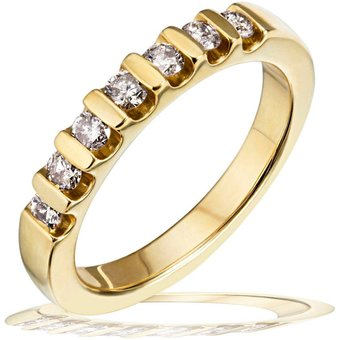 goldmaid Damenring Gold 585 Memoire Brillanten 040 ct