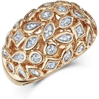 Buckley London Ring rotvergoldet mit Zirkonia