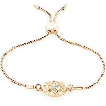 Buckley London Armband Messing rotvergoldet Kristalle