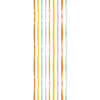 QUEENCE Vinyltapete Streifen-Bunt, 90 x 250 cm, selbstklebend