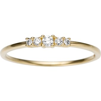 Firetti Diamantring ca 25 mm breit Gelbgold