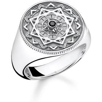 THOMAS SABO Diamantring Ring Vintage Kompass silber, D TR0041-714-11-48, 50, 52, 54, 56, 58, 60, 62, 64, 66, 68