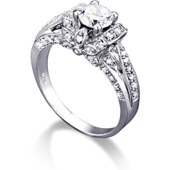 MONA MONAMOUR Ring 925 Sterling Silber rhodiniert Zirkonia
