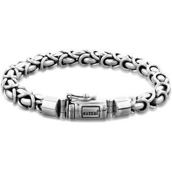 Kuzzoi Armband Herren Panzerarmband Königskette Basic 925 Silber
