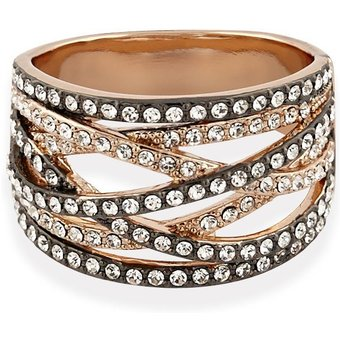 Buckley London Ring rosevergoldet mit Kristallen