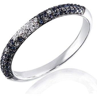 goldmaid Damenring 585 Weissgold 20 Diamanten 011ct58 blaue Saphire
