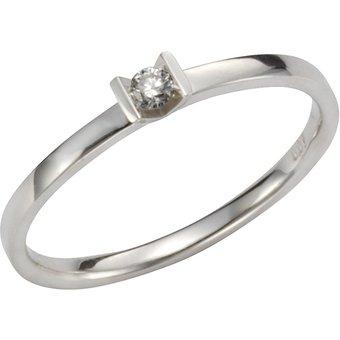 Orolino Ring 585 Weissgold Brillant